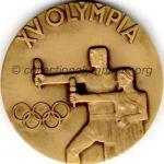 1952 Helsinki olympic participant medal recto, bronze -athlets and officials - 54 mm - 14 000 ex. - designer Kauko RÄSÄNEN