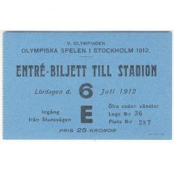1912 Stockholm olympic opening ceremony ticket