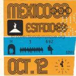1968 Mexico billet olympique cérémonie ouverture recto