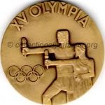 1952 Helsinki olympic participant medal recto, bronze -athlets and officials - 54 mm - 14 000 ex. - designer Kauko RÄSÄNEN