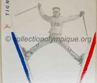 1992 Albertville Olympic poster artistic ski 54 X 80 cm