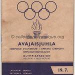 1952 Helsinki olympic opening ceremony program