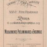 1900 Paris programme olympique gymnastique journalier