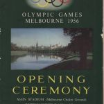 1956 Melbourne olympic opening ceremony program