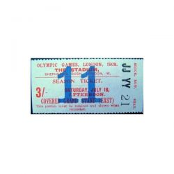 1908 London olympic ticket
