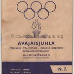 1952 Helsinki olympic opening ceremony program