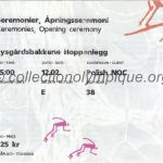 1994 Lillehammer olympic ticket opening ceremony recto