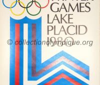 1980 Lake Placid Olympic poster official logo 60.5 x 40 cm