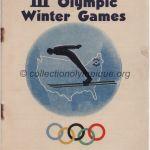 1932 Lake Placid olympic opening ceremony program