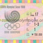 1988 Séoul billet olympique cérémonie ouverture recto