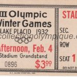 1932_lake_placid_billet_olympique_ceremonie_ouverture