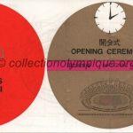 1964 Tokyo billet olympique cérémonie ouverture recto