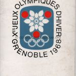 1968 Grenoble programme olympique cérémonie ouverture pochette