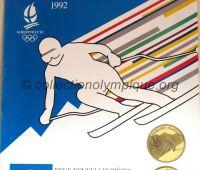 1992 Albertville Olympic poster advertising Paris mint 60 x 80 cm