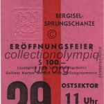 1964 Innsbruck olympic ticket opening ceremony recto