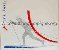 1992 Albertville Olympic poster cross country 54 X 80 cm