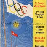 1948 Saint-Moritz programme olympique n°1, cérémonie d'ouverture 30/01/1948 21 x 14,8 cm