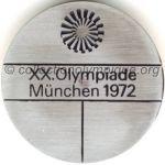 1972 Munich médaille olympique de participant recto, acier - athlètes et officiels - 49 mm - 15 000 ex. - designer Fritz KÖNIG