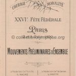 1900 Paris olympic daily program gymnastics