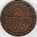 1936 Garmisch-Partenkirchen olympic participant medal recto