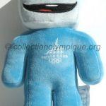 Gliz le cube de glace, peluche hauteur 22 cm mascotte olympique
