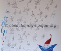 1992 Albertville olympic poster mascot Magic 48 X 68 cm
