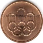 1976 Montreal olympic participant medal recto, copper - athlets and officials - 45 mm - 19 760 ex. - designers Georges HUEL - Pierre-Yves PELLETIER