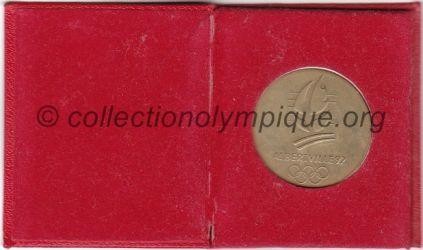1992 Albertville médaille Brides Les Bains, étui