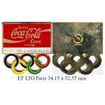27_01 pin's club TOP Coca-Cola émail à froid 34.15 x 32.55 mm signé LTO Paris