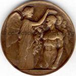 1924 Paris médaille olympique de participant recto, bronze - athlètes et officiels - 55 mm - 9 500 ex. - designer Raoul BENARD