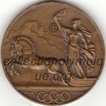 1928 St Moritz olympic participant medal recto