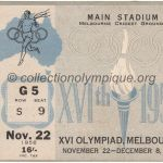 1956 Melbourne olympic ticket opening ceremony recto