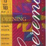 1996 Atlanta billet olympique cérémonie ouverture recto