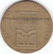 1992 Albertville médaille Brides Les Bains, verso
