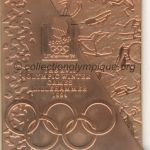 1994 Lillehammer olympic participant medal recto, copper - athlets and officials - 76 x 66 mm - 20 000 ex. - designer Morten KLEPPAN