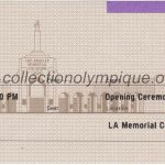 1984 Los Angeles olympic ticket opening ceremony recto