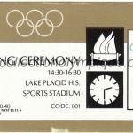 1980 Lake Placid billet olympique cérémonie ouverture recto