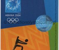 2004 Athènes billet d'entrée olympique session volleyball du 23 Août