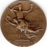 1900 paris medaille olympique participant recto