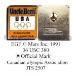 45 06 Club Top Uncle Ben's sponsor USA émail grand feu