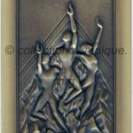 2002 Salt Lake City médaille olympique participant recto, bronze - athlètes et officiels - 90 x 50 mm