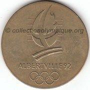 1992 Albertville médaille Brides Les Bains, recto