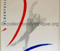 1992 Albertville Olympic poster speed skating 54 X 80 cm