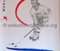 1992 Albertville Olympic poster hockey 54 X 80 cm