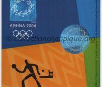 2004 Athènes billet d'entrée olympique session tennis de table du 23 Août