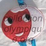 1968 Grenoble mascotte olympique Shuss tissu feutrine plat