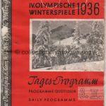 1936 Garmisch-Partenkirchen programme olympique cérémonie ouverture