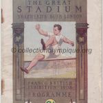1908 London olympic daily program