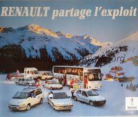 1992 Albertville Olympic advertising poster sponsor Renault 60 X 80 cm