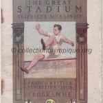 1908 London olympic daily program
